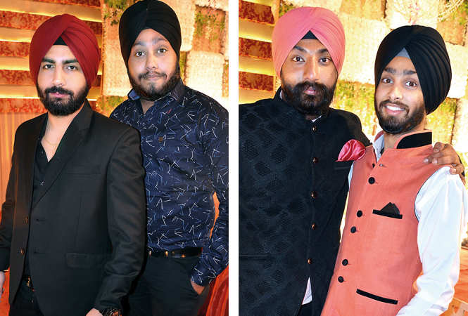 (L) Ranveer and Harpinder (R) Simar and Aman (BCCL/ IB Singh)