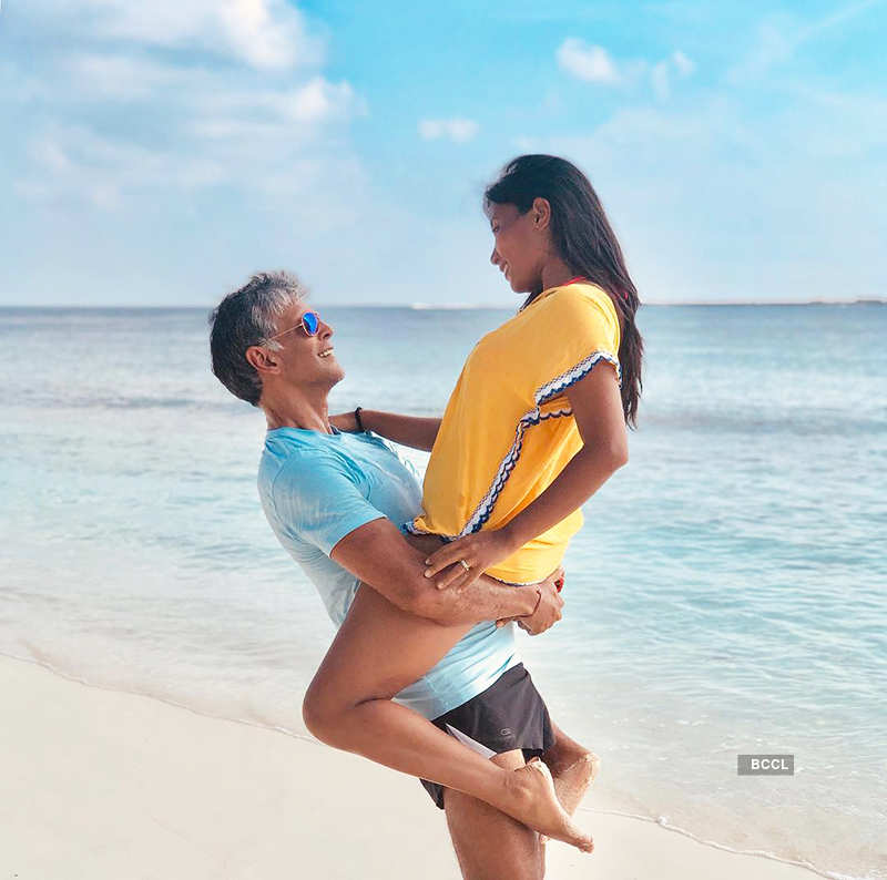 Milind Soman & Ankita Konwar heat up the cyberspace with steaming pictures from Iceland