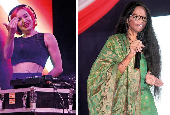 (L) DJ Olly Eees (R) Laxmi Agarwal (BCCL/ Arvind Kumar)
