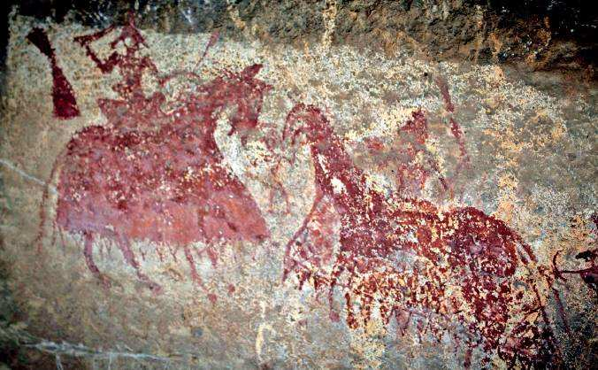 OLD CAVE PAINTING