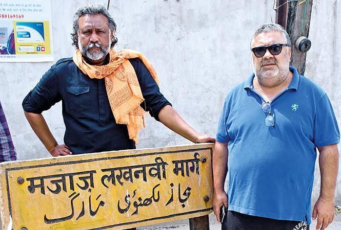 Anubhav (L) and Manoj at the Majaz Lakhnawi Marg (BCCL/ Vishnu Jaiswal)