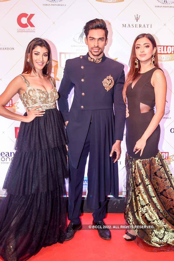 Pageant winners at Hello Hall of Fame Awards 2019