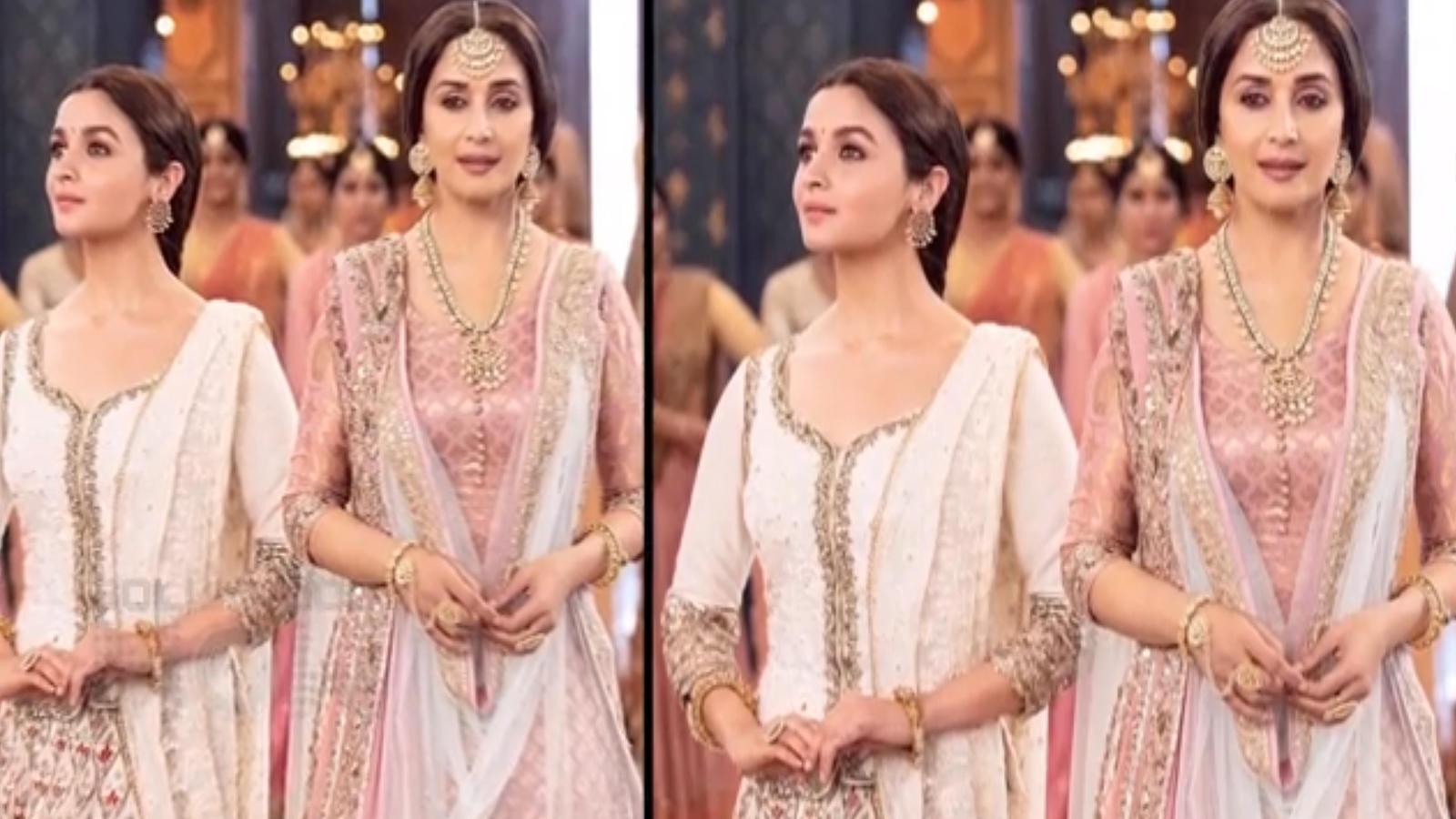Kalank: Madhuri Dixit-Alia Bhatt's graceful dance weave magic in song 'Ghar More Pardesiya'