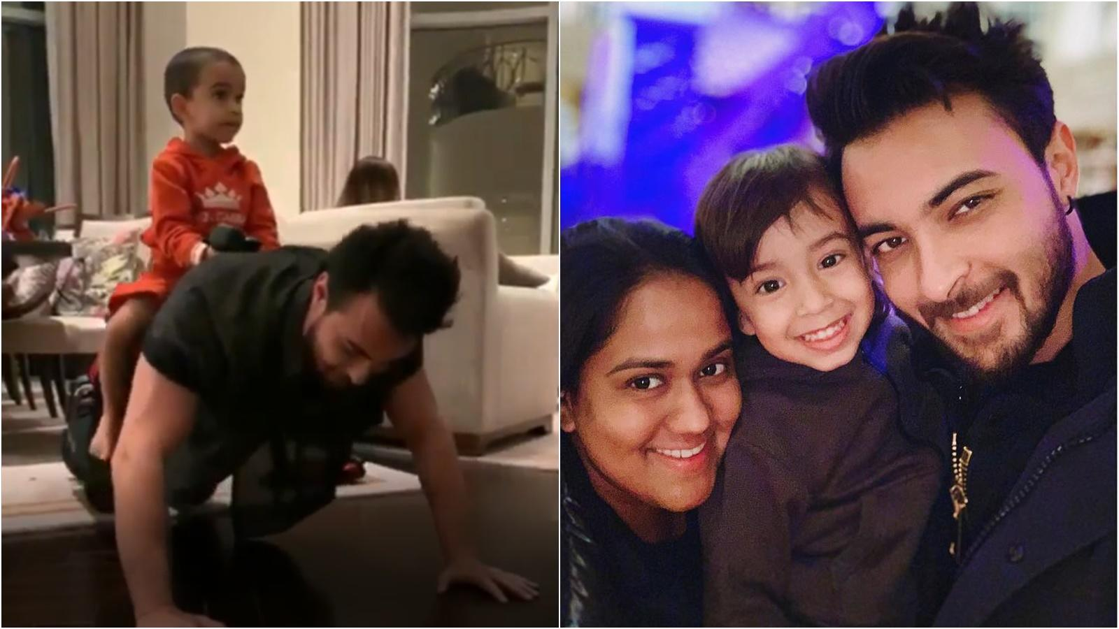 This cute video of Salman Khan's nephew Ahil with daddy Aayush Sharma will surely melt your heart
