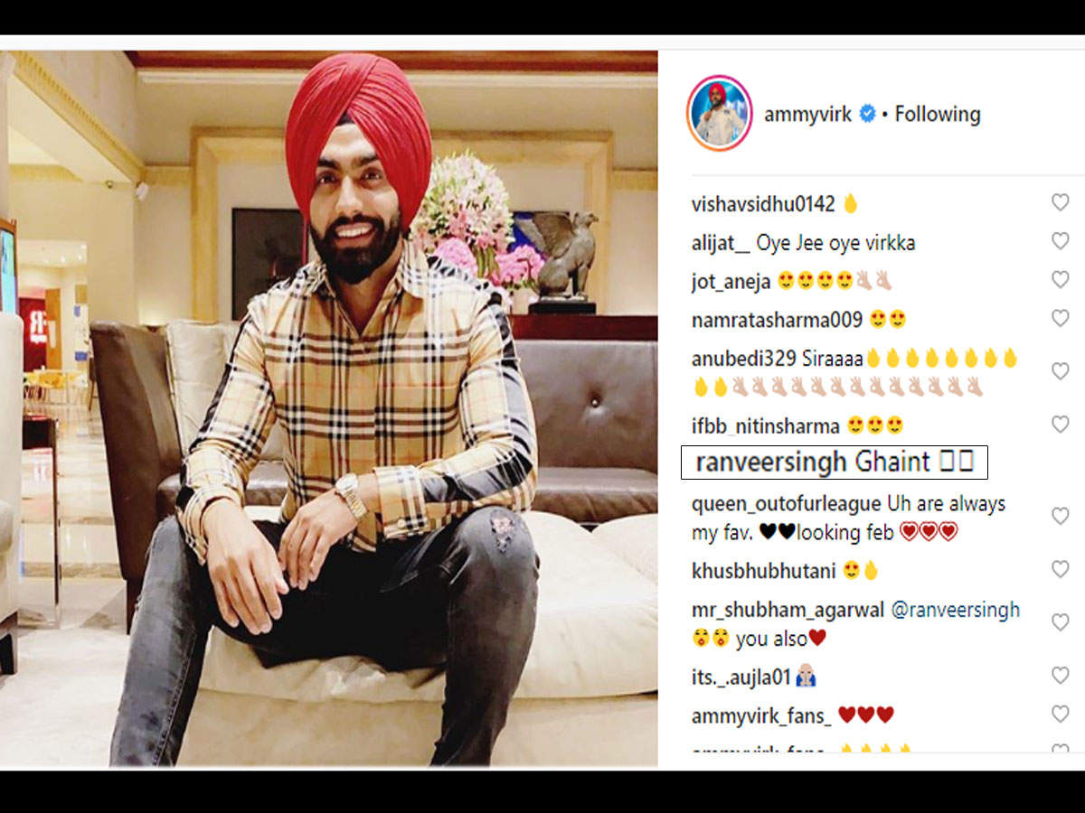 Ammy Virk receives a compliment in Punjabi from his '83' co