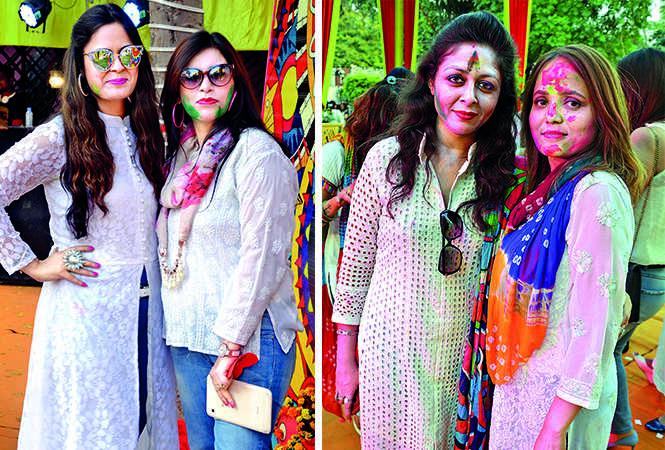 (L) Mehek and Jigyasa (R) Priyanka and Mona (BCCL/ IB Singh)