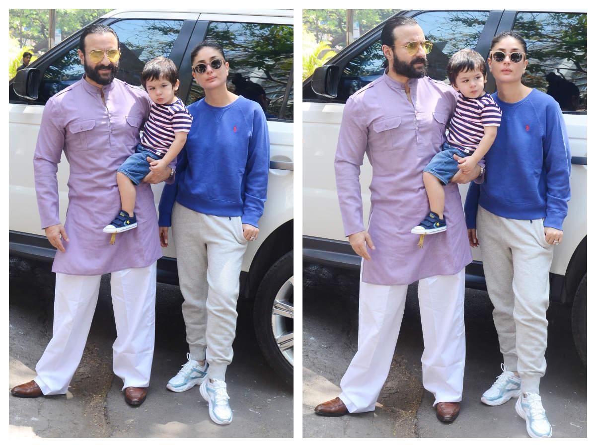 Taimur Ali Khan Pouts For The Pictures As He Poses With Kareena Kapoor And Saif Ali Setelah itu baru dibebaskan untuk memeluk. kareena kapoor and saif ali