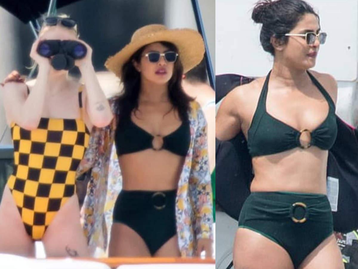 Priyanka Chopra and  Sophie Turner sexy bikini