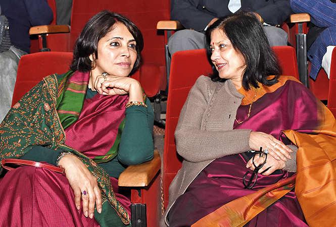Kanak Rekha Chauhan and (L) Ila Kapoor (BCCL/ Farhan Ahmad Siddiqui)