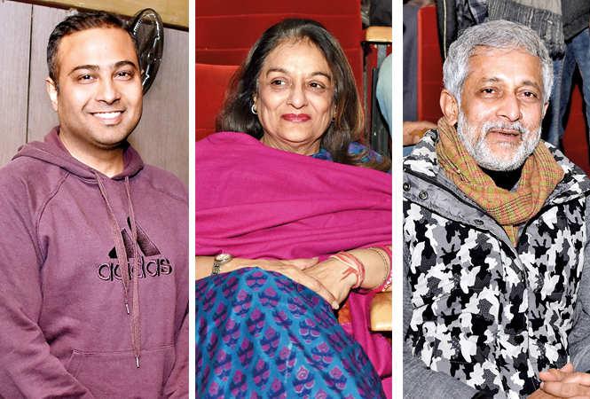 (L) Mohit Gupta (C) Padmini Krishna (R) Rakesh Pandey (BCCL/ Farhan Ahmad Siddiqui)