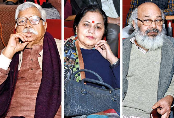(L) Ramesh Dixit (C) Rashmi Kapoor (R) Surya Mohan (BCCL/ Farhan Ahmad Siddiqui)