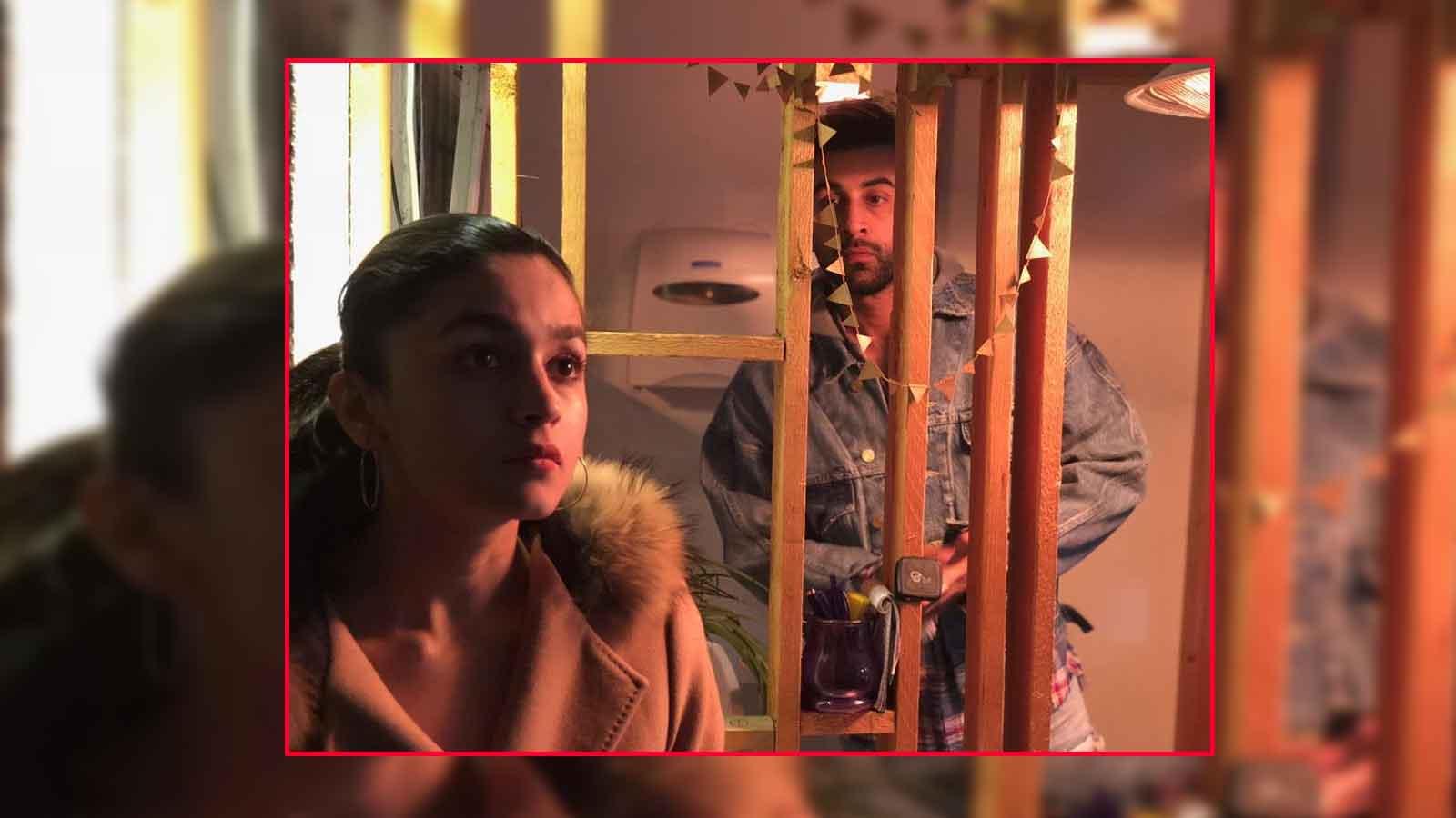 'Brahmastra' sets: Ranbir Kapoor cannot take his eyes off ladylove Alia Bhatt
