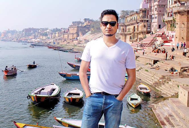 Vipin Patwa At Assi Ghat in Varanasi (BCCL/ Arvind Kumar)