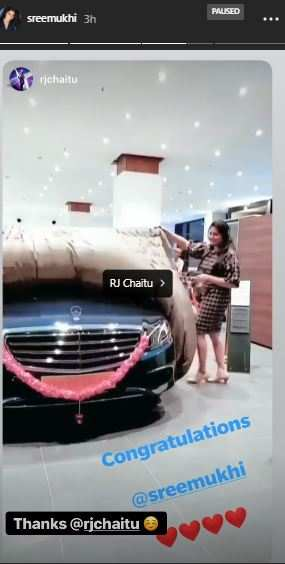 Sreemukhi new car1