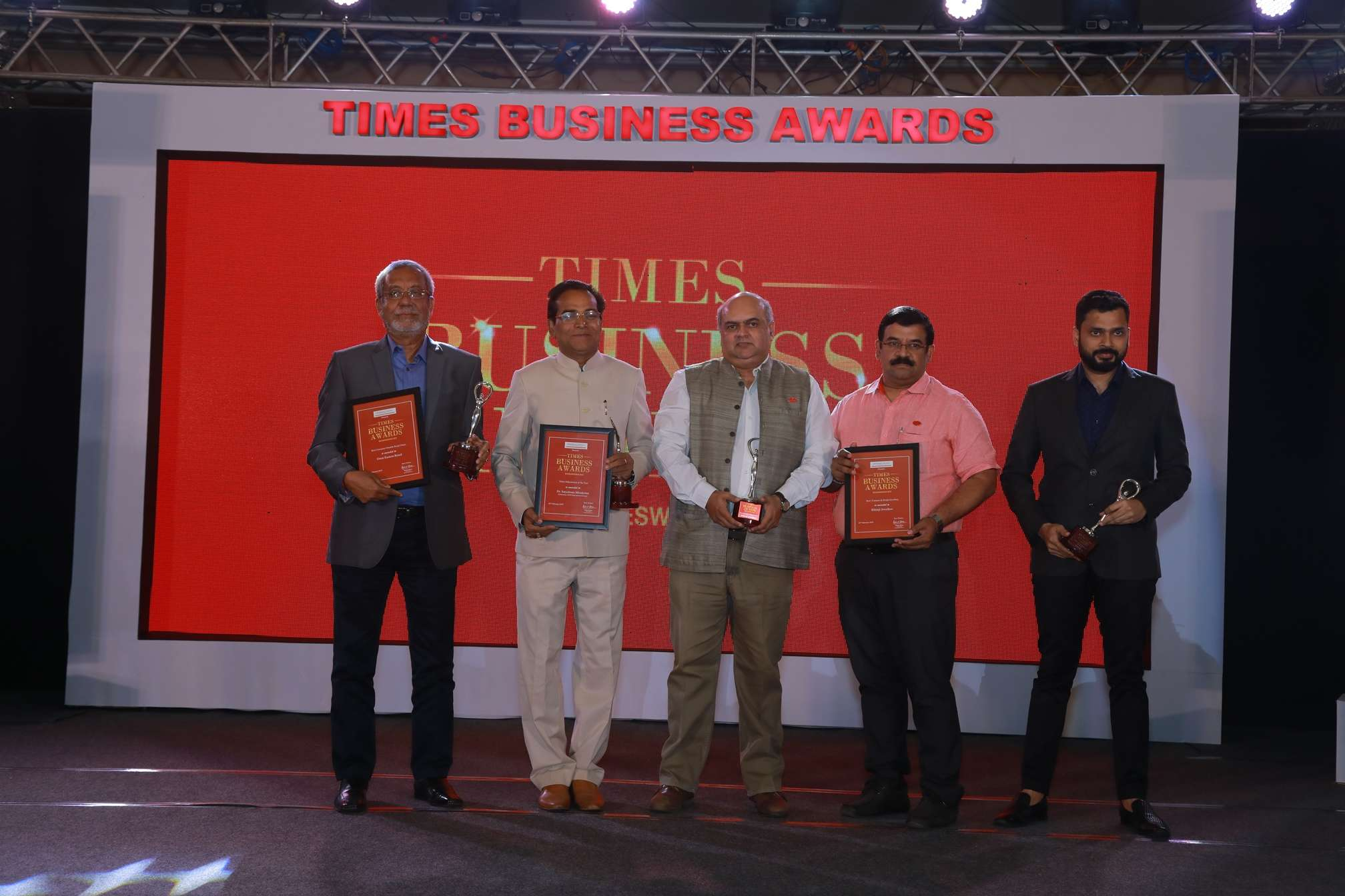 Group of Winners of Times Business Awards