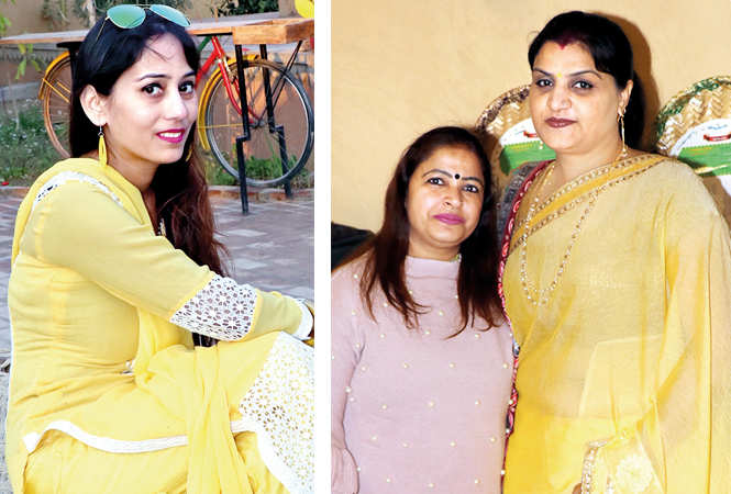 (L) Muskan Dubey (R) Shailly and Sarika (BCCL/ Unmesh Pandey)
