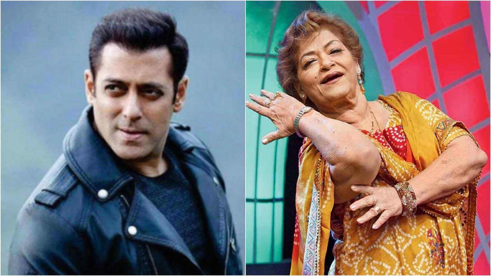 Salman Khan comes to choreographer Saroj Khan's rescue after she runs out of work