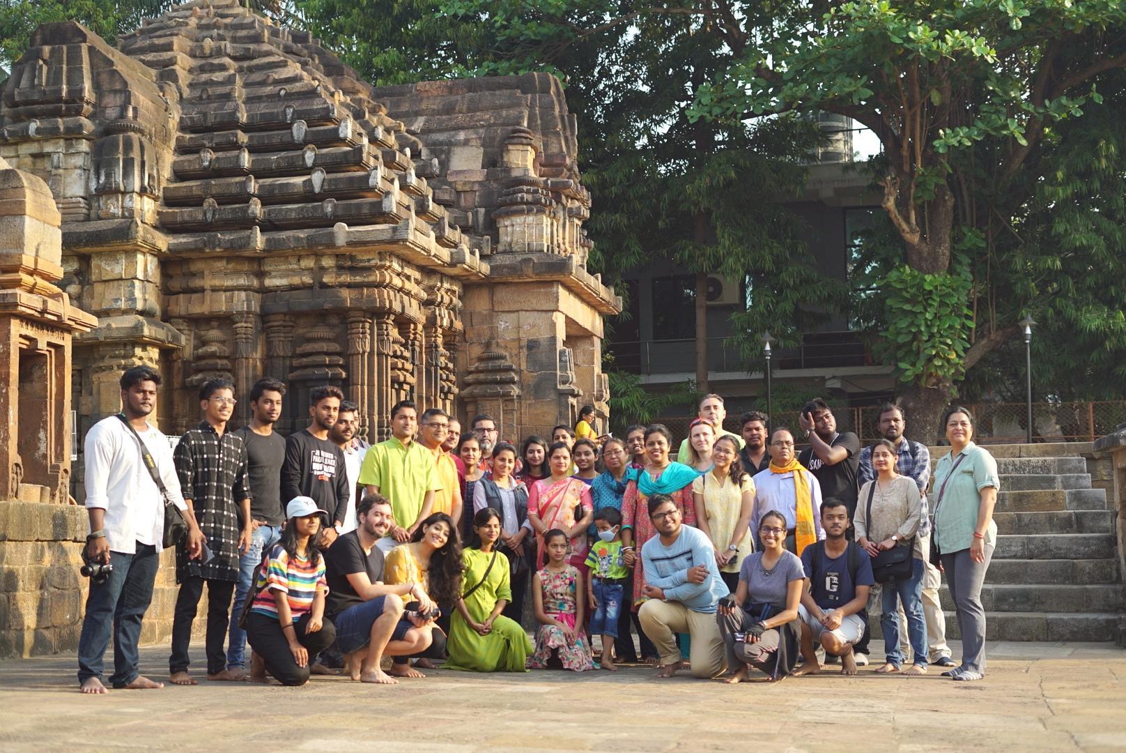 3. Group Photo at Mukteswar Temple