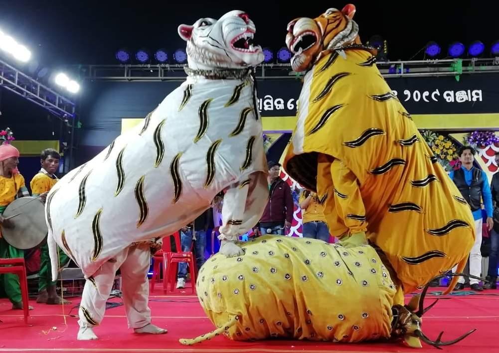 Animal mask dance.