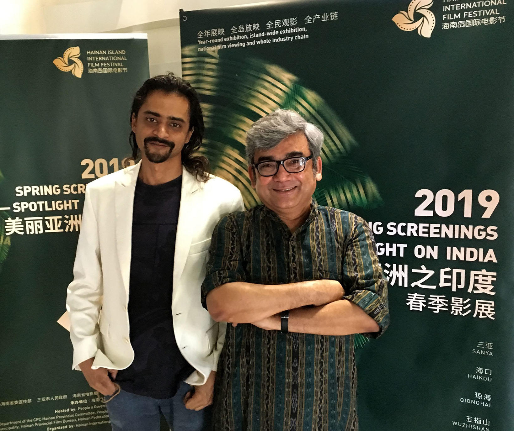 Sagar Desai and Arun Gupta at Hainan China Indian Film Fest lo