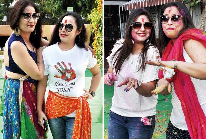 (L) Navneet and Shagun (R) Neetu and Priya (BCCL/ AS Rathor)