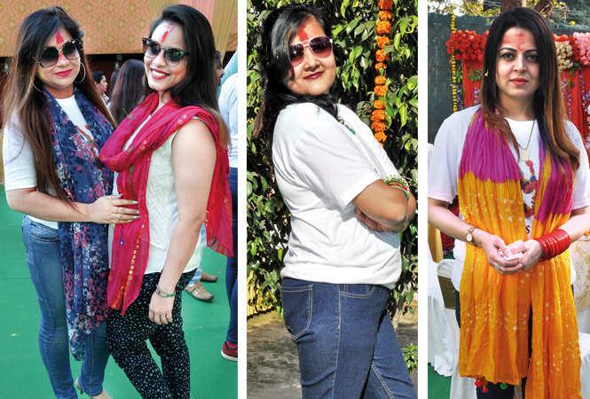 (L) Charu and Richa (C) Harsha (R) Hina (BCCL/ AS Rathor)
