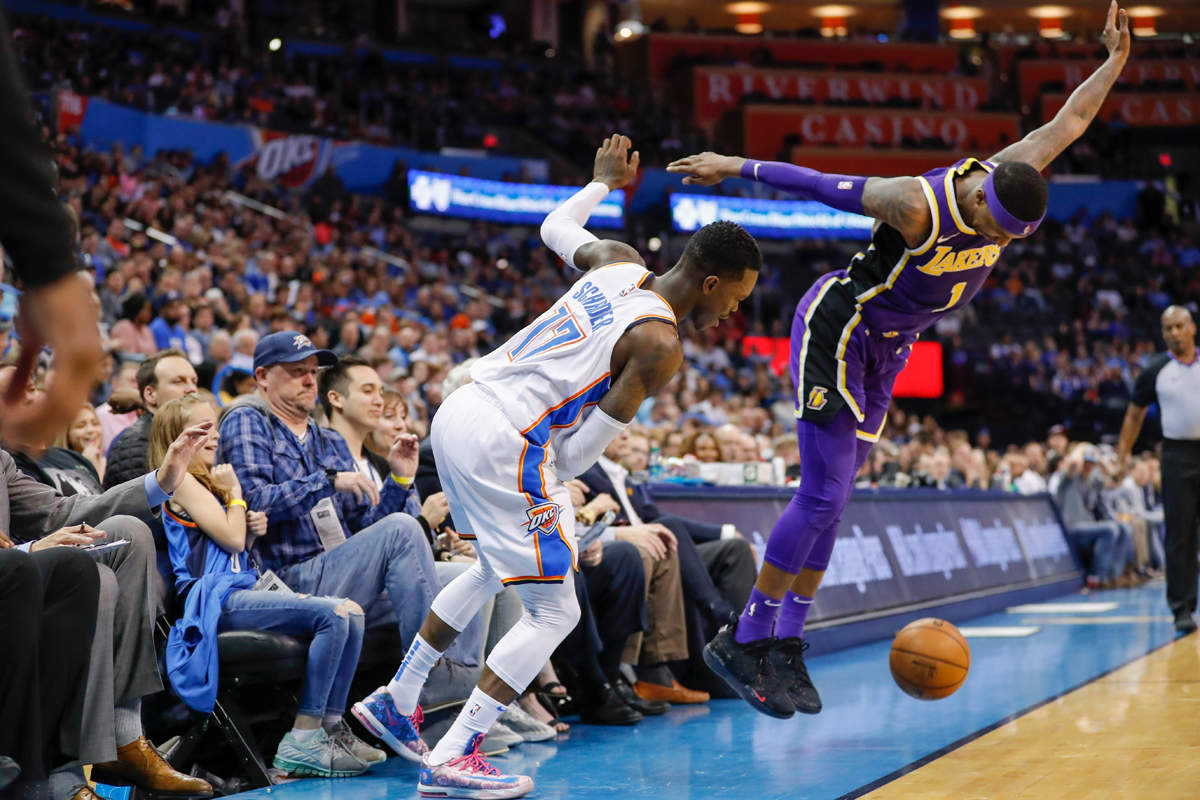 Thunder's 119-103 win over LA Lakers