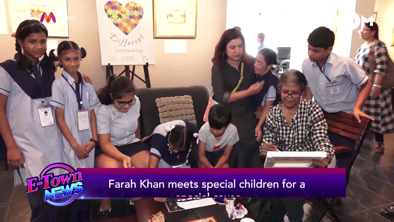 Farah Khan meets special children for a noble cause
