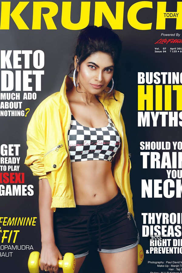 Lopamudra Raut's stunning appearance on the cover of Krunch Magazine