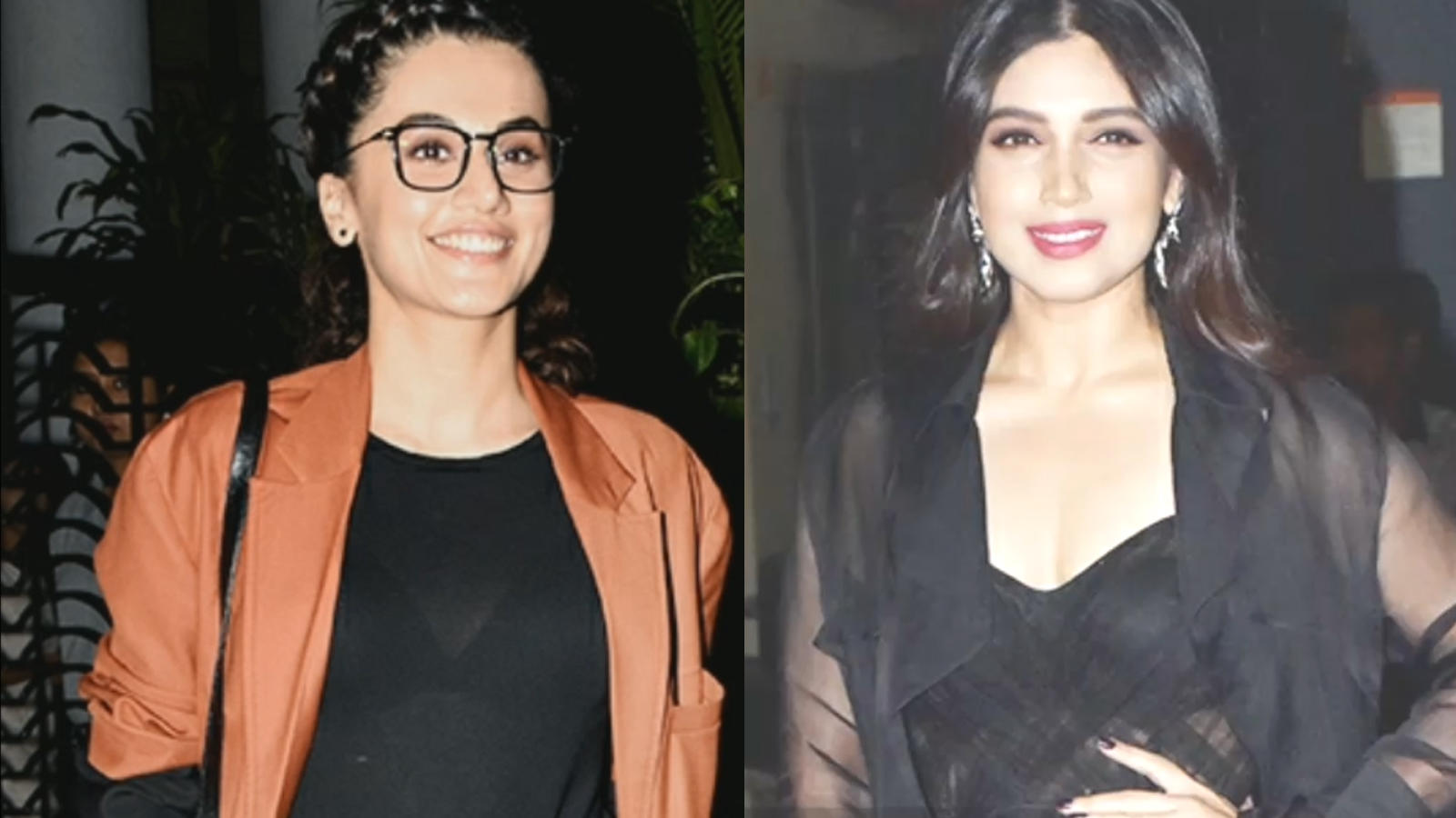 Taapsee Pannu, Bhumi Pednekar have a small time movie marathon at a local theatre in Meerut!