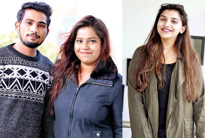 (L) Rizwan and Vaishnavi (R) Shambhavi Singh (BCCL/ Aditya Yadav)