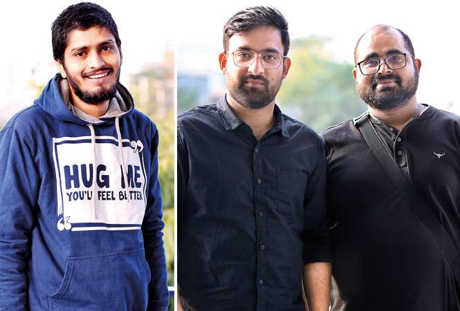 (L) Shivam Mishra (R) Shubham and Divendra (BCCL/ Aditya Yadav)