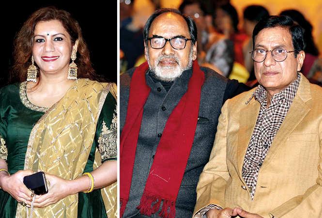 (L) Malvika Hariom (R) Gopal Sinha and Sangam Bahuguna (BCCL/ Aditya Yadav)