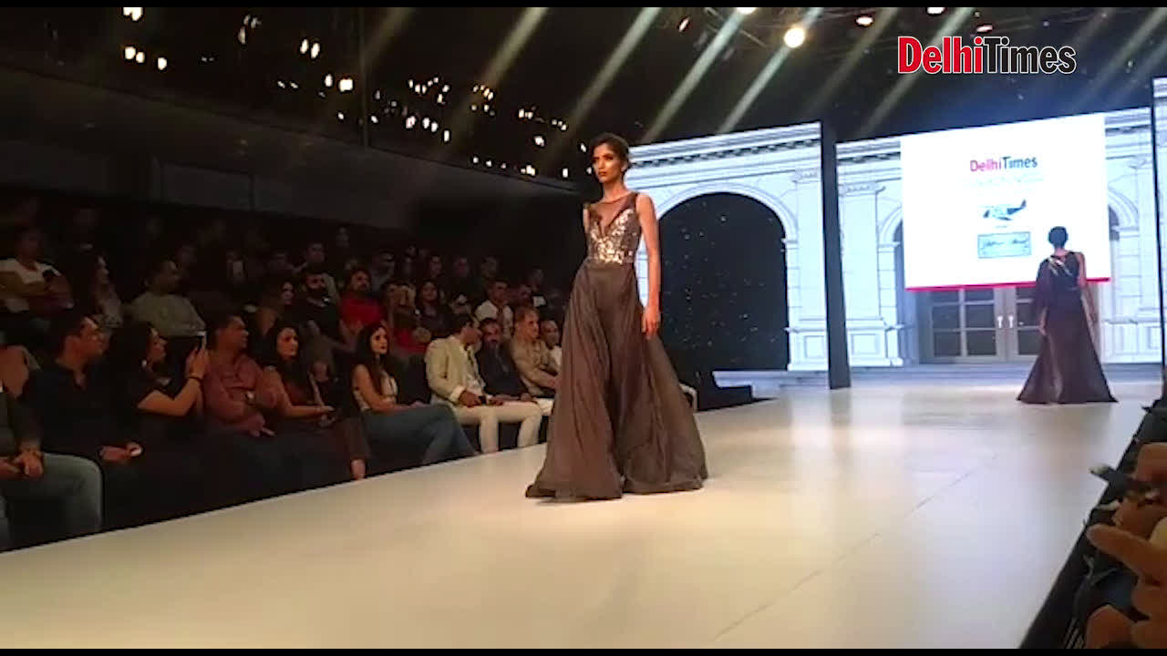 Rich fabrics and intricate surface ornamentation by designer Ashfaque Ahmad at DTFW