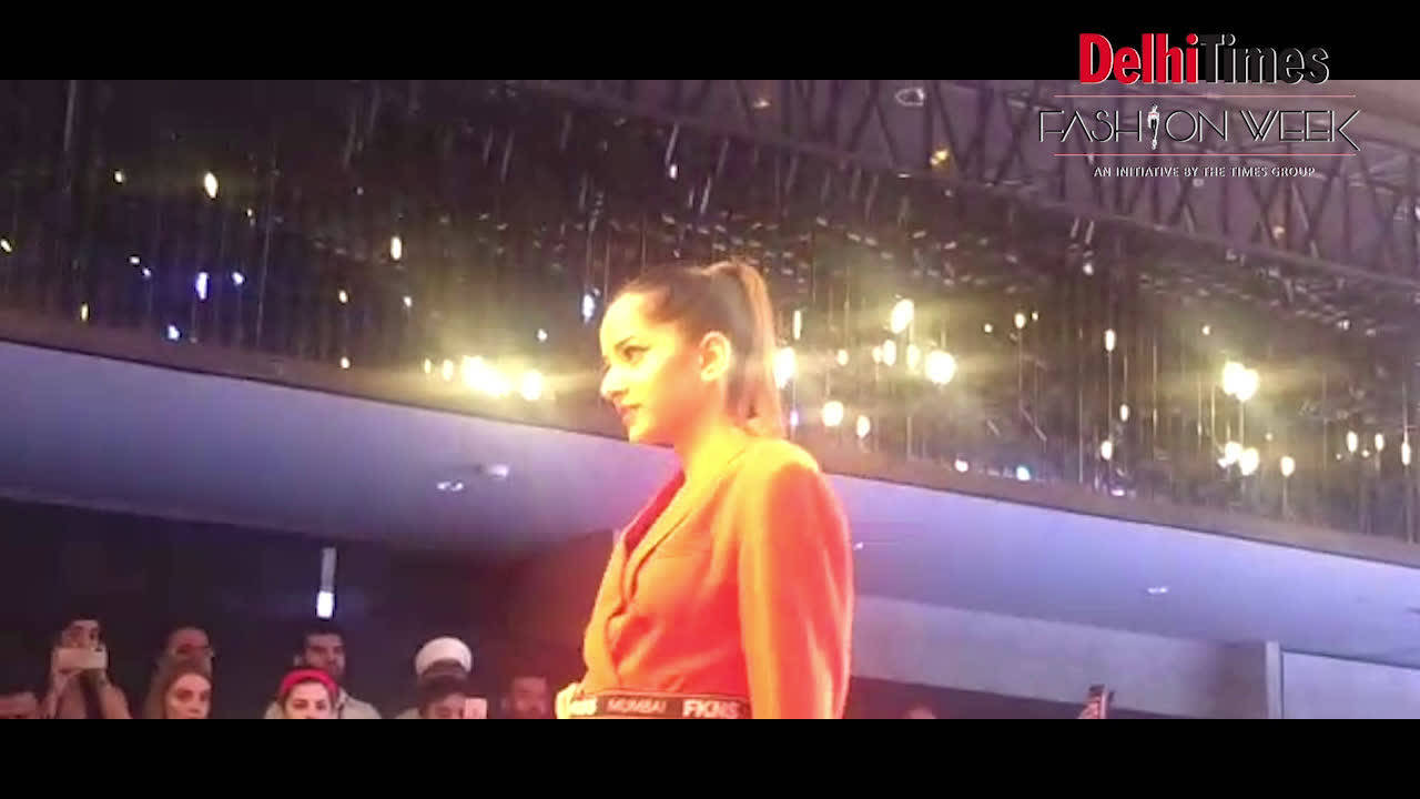 Designer Narendra Kumar showcased some of his collections during DTFW
