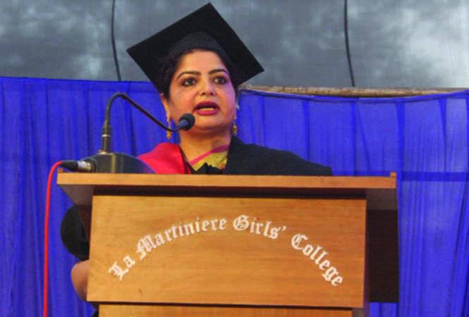 Principal Aashrita Das presenting the Principal's Note (BCCL)