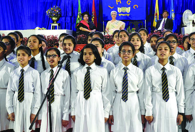 School choir performing on the occasion (BCCL)