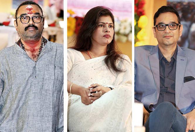 (L) Sri Narayan Singh (C) Swati Singh (R) Aashish Singh (BCCL/ Aditya Yadav)