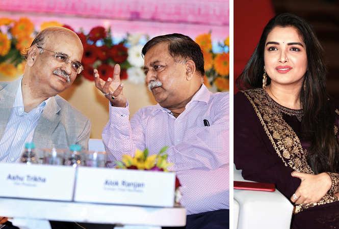 (L) Alok Ranjan and Awanish Kumar Awasthi (R) Amrapali Dubey (BCCL/ Aditya Yadav)