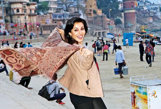 Flora Saini at Assi Ghat, Varanasi (BCCL/ Unmesh Pandey)