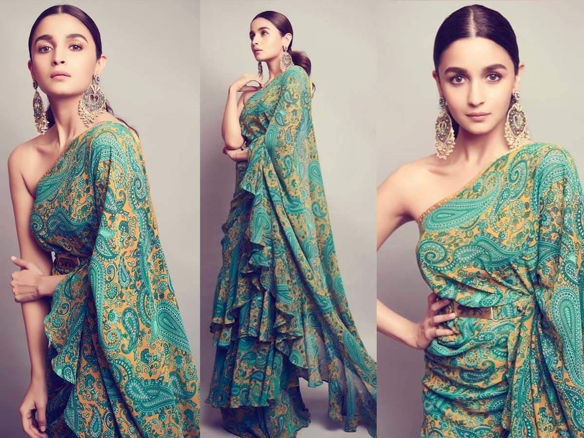 Alia Bhatt looks mesmerising as she dons a printed yellow-green ...