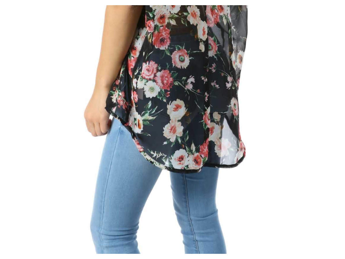 Floral shrug with Jeans