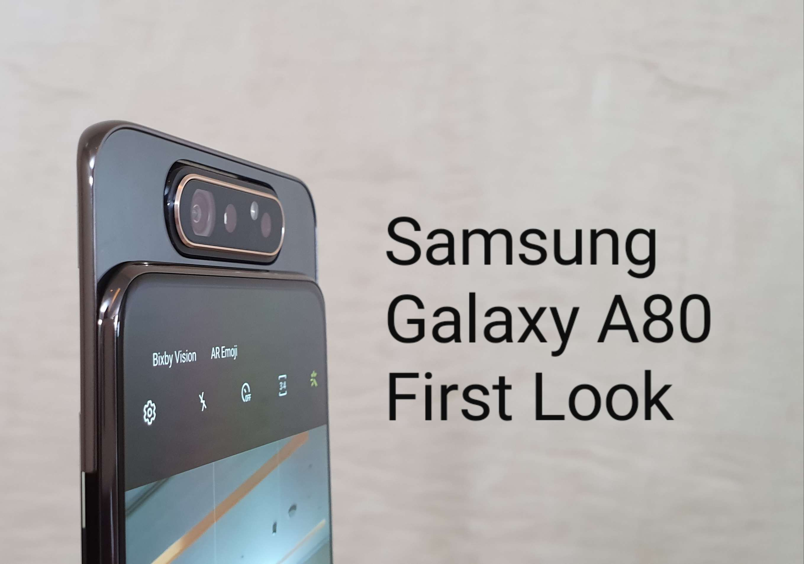 Samsung Galaxy A80 with 48MP pop-up rotating camera to