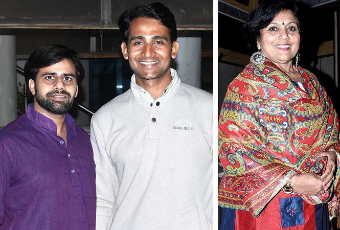 (L) Raj Vardhan and Yash Chorasiya (R) Chitra Mohan (BCCL/ Vishnu Jaiswal)