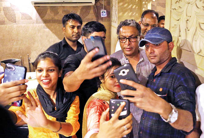 Nassar was surprised when people recognised him at an eatery in Aminabad (BCCL/ Aditya Yadav)