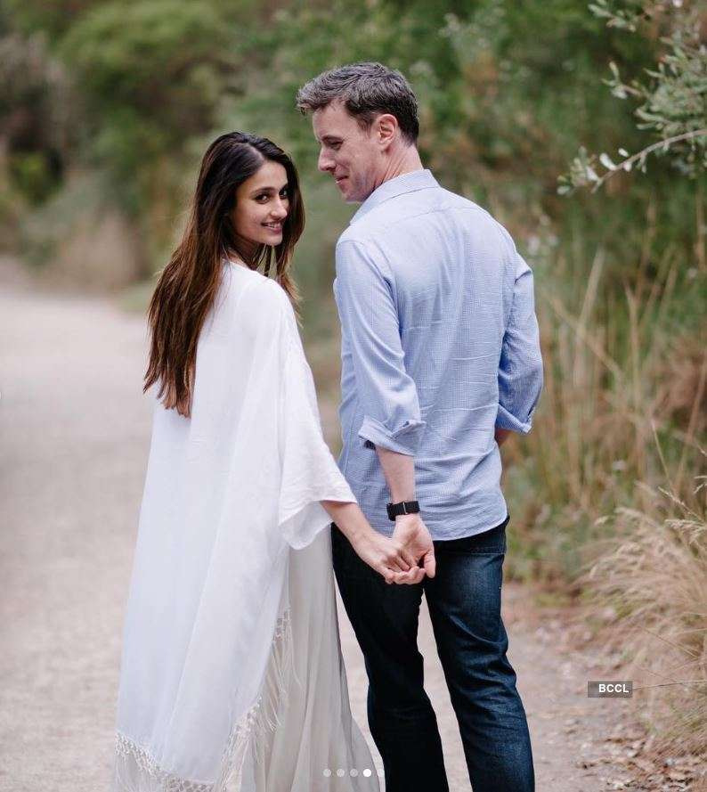 Ileana D'Cruz walks hand in hand with her 'hubby' Andrew Kneebone, says 'You make me happy every time you smile'