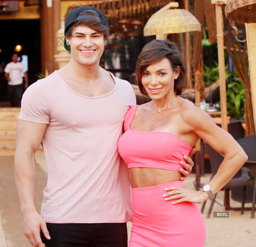 Sahil Khan, Jeff Seid and Danni Levy attend an event