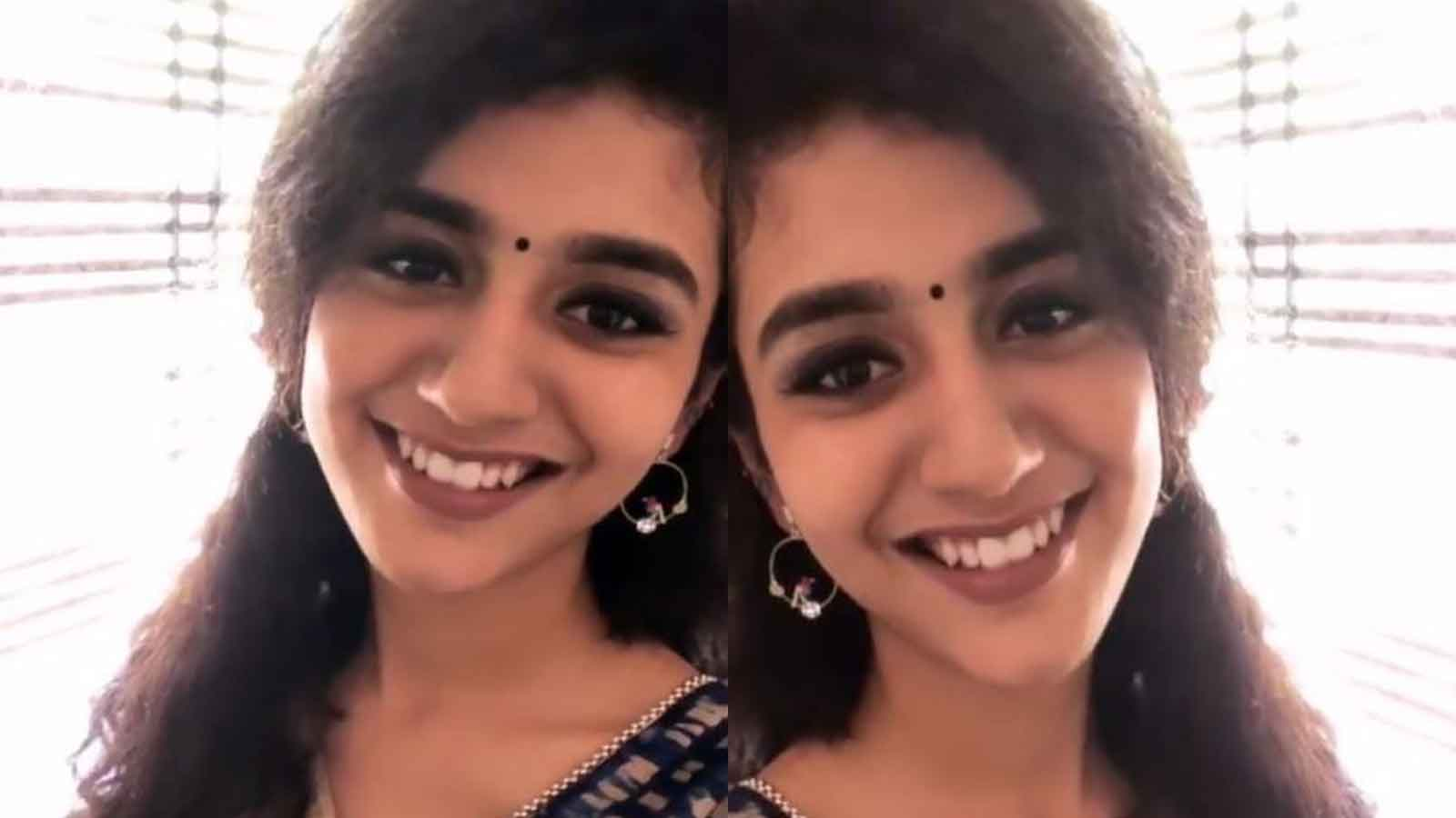 Priya Prakash Varrier wins hearts with her ethnic look and charming smile