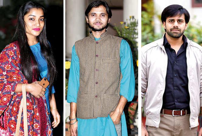 (L) Komal Singh (C) Privendra Singh (R) Raj Vardhan Pandey (BCCL/ Aditya Yadav)