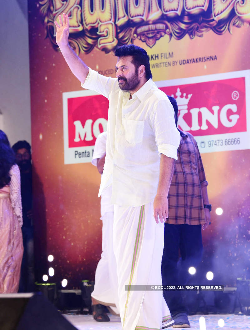 Actor Mammootty's movie 'Madhura Raja' pre-launch turns out to be a starry affair